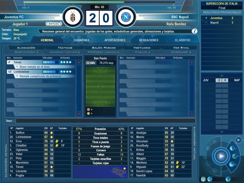 Resultado - Supercopa Italia min. 60